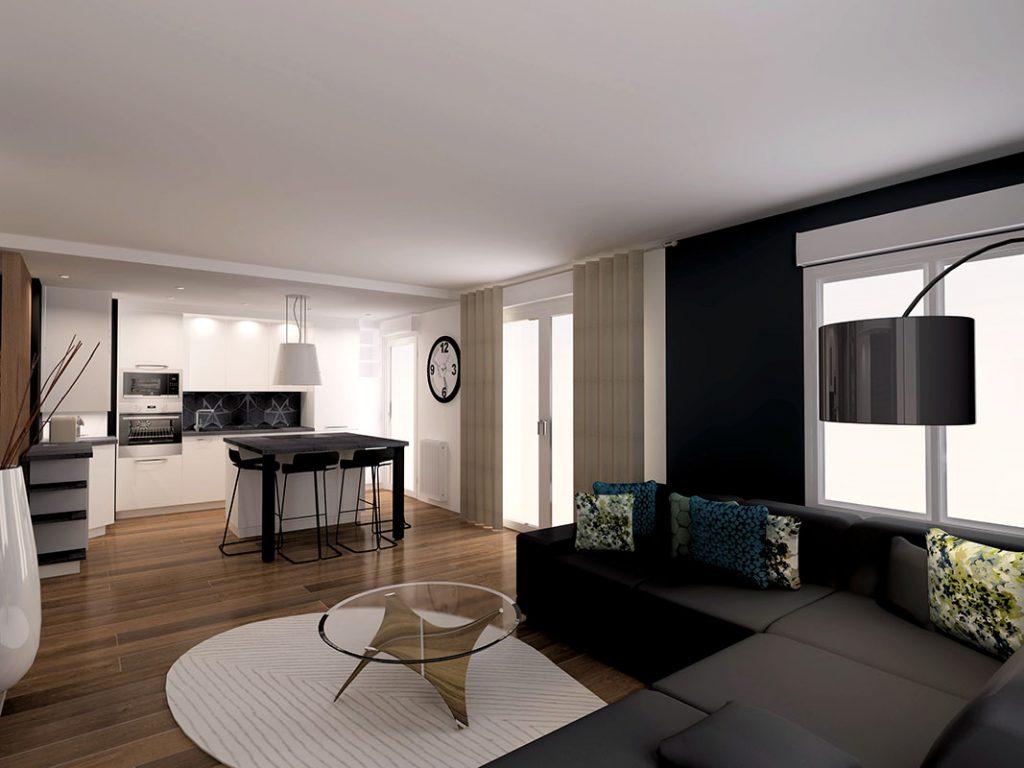 Nouvel agencement d'un appartement